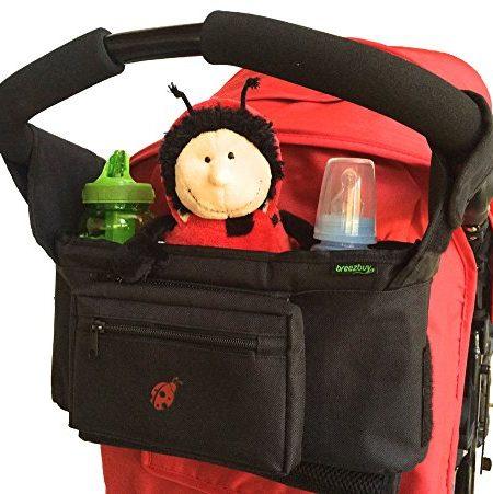1-Value-Buggy-und-Kinderwagentasche-Fr-die-meisten-Kinder-und-Sportwagen-Ideal-fr-den-Transport-von-Babyartikeln-und-Windeln-XL-Getrnkehalter-0