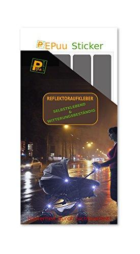 20-Reflektor-selbstklebend-Kinderwagen-Fahrrad-Helm-Gehhilfe-Aufkleber-Leuchtfolie-0