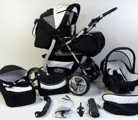 3-in-1-Kombikinderwagen-Komplettset-VIP-inkl-Kinderwagen-Babyschale-und-Sportwagen-Aufsatz-11-Farben-auswhlbar-0