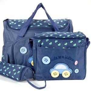 4tlg-Wickeltasche-Babytasche-Pflegetasche-Reisetasche-Baby-Dunkelblau-0