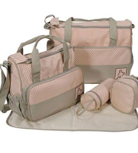 5tlg-Babytasche-Wickeltasche-Mutter-Windeltasche-5pcs-Nappy-Changing-Khaki-Grn-0