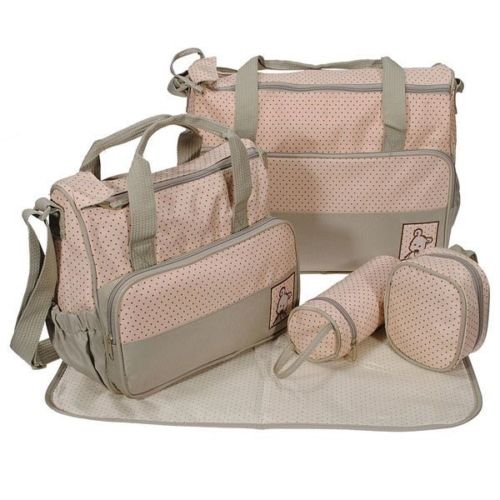 5tlg-Babytasche-Wickeltasche-Mutter-Windeltasche-5pcs-Nappy-Changing-Khaki-Grn-0