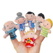6-tlg-Fingerpuppen-Set-Familie-0