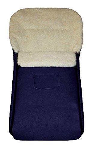 Baby-Joy-K-105-05-Fusack-KAI-105cm-XL-FILZFREI-dunkelblau-LammfellAcrylwolle-Thermofusack-fr-Buggy-Kinderwagen-Schlitten-0