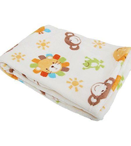 Baby-JungenMdchen-Fleece-Decke-Safari-0