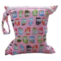 Baby-Kleinkind-Wasserdichtem-Reiverschluss-Wiederverwendbare-Stoff-Windel-Tasche-w-bunte-Eulen-Muster-Rosa-0
