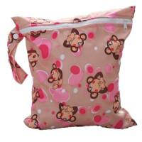 Baby-Kleinkind-Wasserdichtem-Reiverschluss-wiederverwendbare-Stoff-Windel-Tasche-Affe-Muster-0