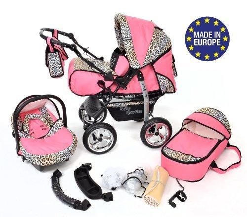 Zwillingskinderwagen mit babyschale  Baby Sportive Kamil, Kombikinderwagen set - incl. Kinderwagen mit ...