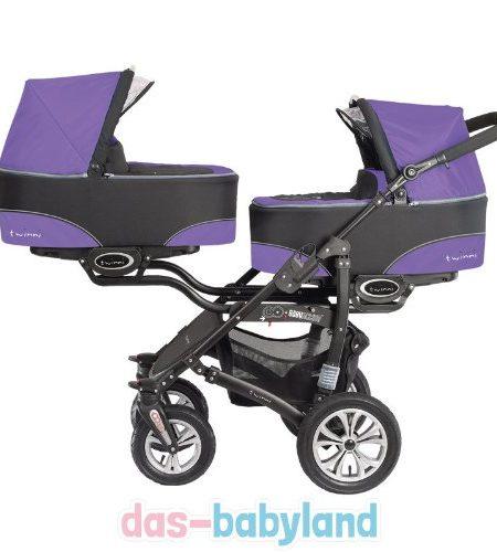 BabyActive-Twinni-3in1-Zwillingskinderwagen-Geschwisterwagen-Zwillingsbuggy-1x-Babyschale-0