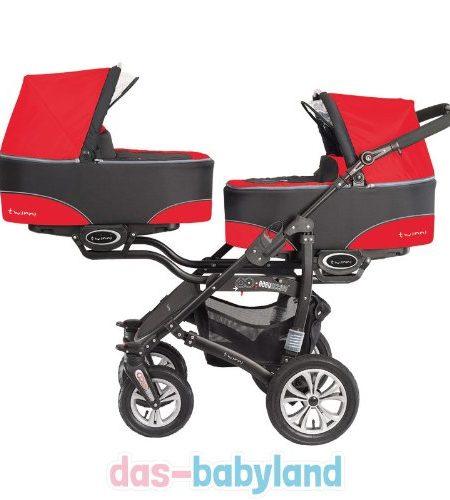 BabyActive-Twinni-3in1-Zwillingskinderwagen-Geschwisterwagen-Zwillingsbuggy-2x-Babyschale-0