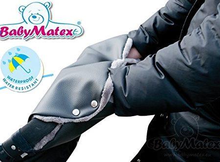 BabyMatex-TRIPPI-KO-LEDER-SCHWARZ-Handwrmer-Handschuh-NIE-WIEDER-KALTE-HNDE-DER-Muff-fr-Kinderwagen-Schlitten-Buggy-Radanhnger-Jogger-etc-0