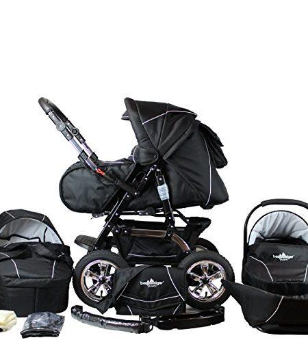 Bergsteiger-Milano-Kombikinderwagen-Autositz-mit-Travelsystem-Megaset-10-teilig-8-Farben-0