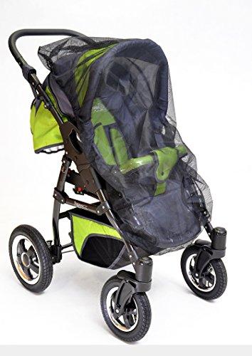 Best-For-Kids-Universal-Insektenschutz-passend-fr-Kinderwagen-Sportwagen-Jogger-und-Reisebett-schwarz-0