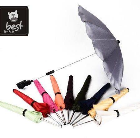 Best-For-Kids-Universal-Kinderwagenschirm-NEUSTE-TECHNIK-Hchster-UV-Schutz-Standard-801-Sonnenschirm-und-Regenschirm-fr-Kinderwagen-biegsam-und-einklappbar-13-Farben-zur-Auswahl-0