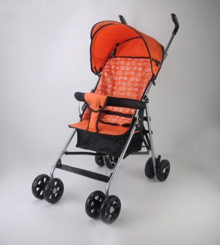 Buggy-Jogger-Kinderwagen-Baby-Sportwagen-Babywagen-orange-OVP-0