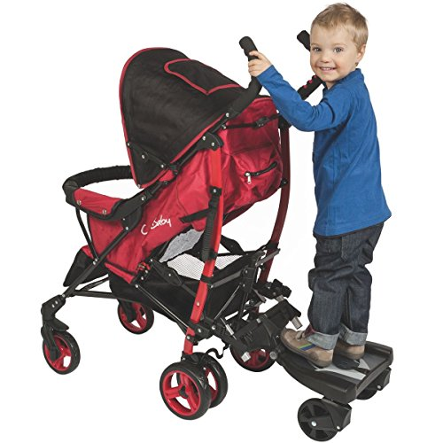 buggyboard kinderwagen buggy trittbrett mitfahrbrett rollbrett schwarz bis 20 kg. Black Bedroom Furniture Sets. Home Design Ideas