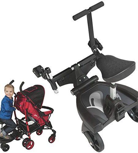 Buggyboard-Trittbrett-Mitfahrbrett-Rollbrett-Zusatzsitz-Erweiterung-fr-Kinderwagen-Buggy-Jogger-bis-20-Kg-0