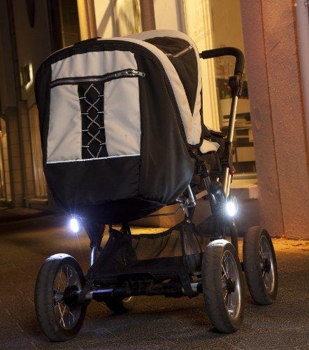 Buggylight-Kinderwagenlicht-Silber-Doppelpack-2-Stck-Sehen-und-gesehen-werden-mit-dem-Kinderwagen-0-1
