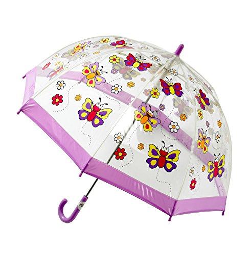 Bugzz-Kinderregenschirm-Schmetterlingsmuster-transparent-PVC-0