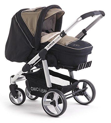 CHIC-4-BABY-15040-Kombi-Kinderwagen-Linus-braunschwarz-0