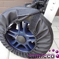 Camicco-Radschutz-CLEVER-KLETT-RadschutzHlle-fr-KinderwagenBuggyJogger-Die-perfekte-Lsung-fr-Rder-mit-Handbremse-etc-0