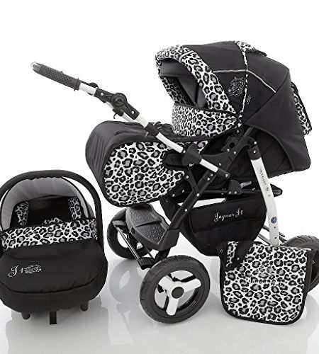 Chilly-Kids-Jaguar-J1-Kombikinderwagen-Komplettset-Autositz-Regenschutz-Moskitonetz-0