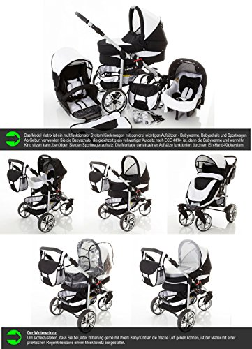 Chilly-Kids-Matrix-II-Kinderwagen-Safety-Set-Autositz-ISOFIX-Basis-Regenschutz-Moskitonetz-Schwenkrder-0-0