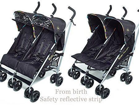 Citi-Elite-Doppel-twin-Kinderwagen-doppel-Buggys-fehlerhaft-Passt-through-einzeln-trffnungen-Both-sitze-5-stellung-geeignet-von-geburt-Sitze-unabhngig-betrieben-EINZIGARTIGE-reflektierende-streifen-on-0