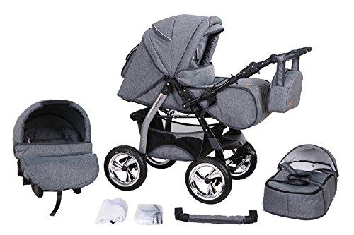 clamaro 3 in 1 milo 2016 kombi kinderwagen inkl babywanne sport buggyaufsatz babyschale. Black Bedroom Furniture Sets. Home Design Ideas