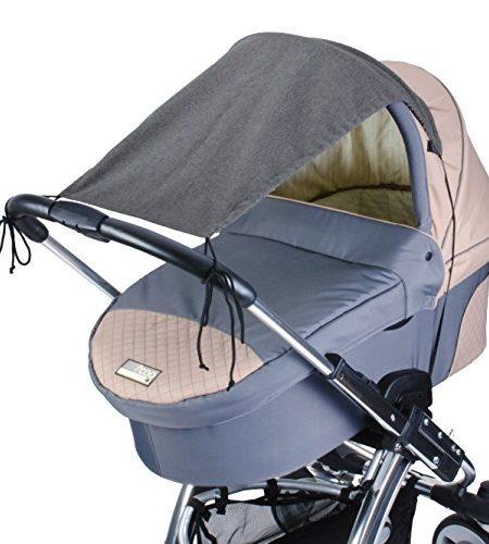 DIAGO-Deluxe-Sonnensegel-Kinderwagen-grau-0
