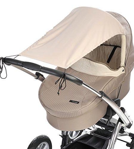 DIAGO-Mikrofaser-Sonnensegel-Kinderwagen-beige-0