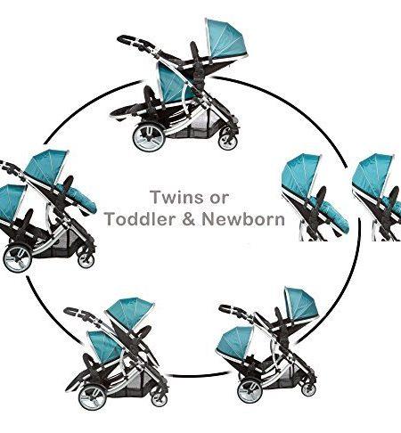 DUELLETTE-21-BS-Zweibettzimmer-Doppelbettzimmer-Kinderwagen-Tandem-Kinderwagen-buggy-2-sitz-einheiten-kompatibel-mit-Kidz-Kargo-safety-Schale-Autositz-oder-maxi-cosi-klemmen-oder-Britax-Baby-sicherhei-0