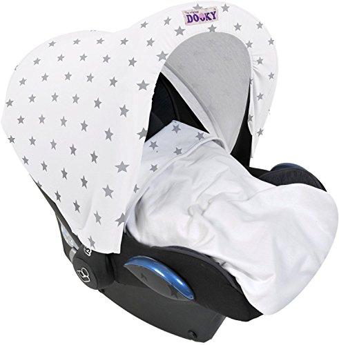 Dooky-Ersatzhaube-fr-Baby-Autositz-Motiv-silberfarbene-Sterne-0