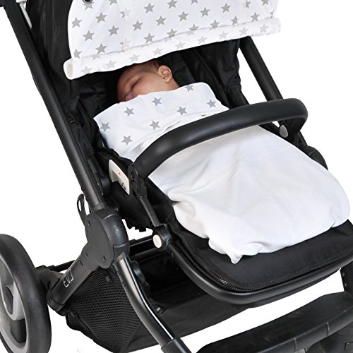 Dooky-Sonnenschutz-fr-Kinderwagen-silberfarbene-Sterne-0