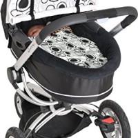Dooky-SonnenschutzSchutzabdeckung-fr-Kinderwagen-Design-mit-schwarzen-Kreisen-0