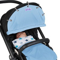 Dooky-SonnenschutzSchutzabdeckung-fr-Kinderwagen-Hellblau-0