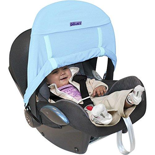 Dooky-Zero-SonnenschutzSchutzabdeckung-fr-Auto-Kindersitz-Babyblau-0