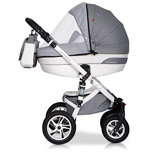 durango 3in1 kombi kinderwagen set leder version aluminium. Black Bedroom Furniture Sets. Home Design Ideas
