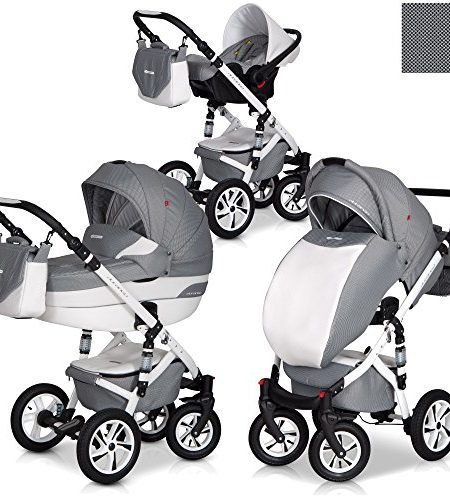 Durango-3in1-Kombi-Kinderwagen-Set-Leder-Version-Aluminium-Tech-0