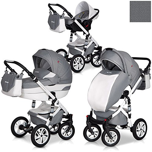 durango 3in1 kombi kinderwagen set leder version aluminium tech. Black Bedroom Furniture Sets. Home Design Ideas