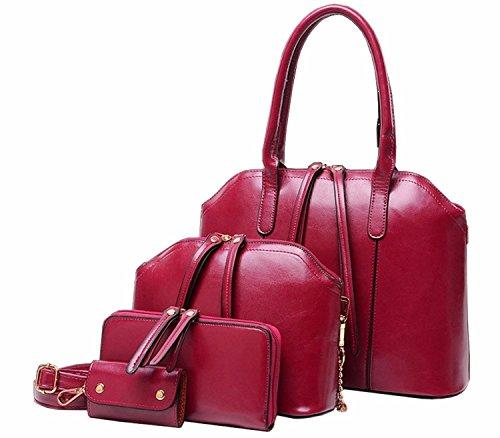 Europa-Style-Frauen-schne-Quasten-Handtasche-Umhngetasche-4-Set-tlg-0