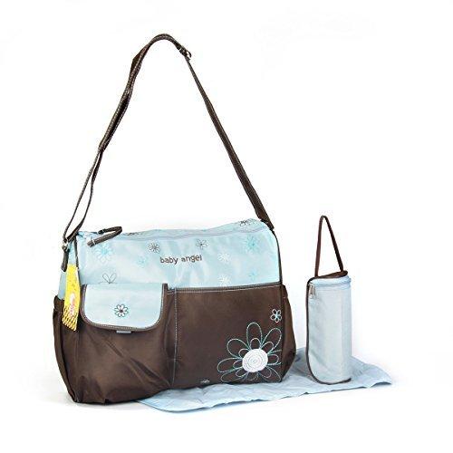 GMMH-3-tlg-Baby-Farbe-blau-braun-Wickeltasche-Pflegetasche-Windeltasche-Babytasche-Reise-Farbauswahl-0