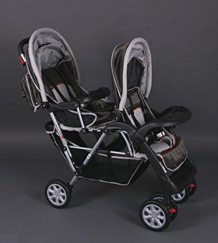 Geschwisterwagen-Zwillingswagen-braun-Top-Design-BambinoWorld-0