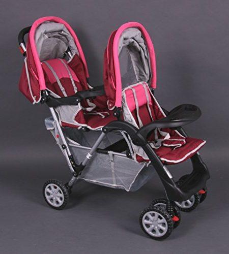 Geschwisterwagen-Zwillingswagen-rosa-Top-Design-BambinoWorld-0
