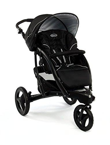 Graco-1808695-praktischer-und-sportlicher-Kinderwagen-inklusive-Beindecke-Regenverdeck-und-Rdertasche-schwarz-0