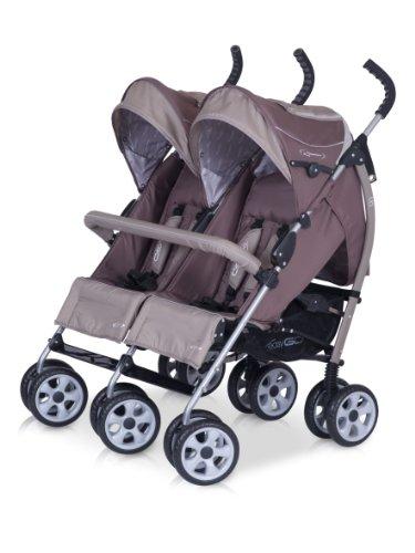 kinderwagen duo comfort chocolate f r geschwister zwillinge spazierwagen buggy aus. Black Bedroom Furniture Sets. Home Design Ideas