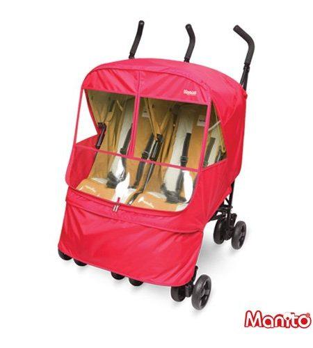 Manito-Elegance-Alpha-Twin-Cover-Abdeckung-fr-Twin-Kinderwagen-und-Sportkinderwagen-Regen-Abdeckung-Wind-Wetter-Schild-fr-den-Auen-Bummeln-Augenschutzweit-Windows-0