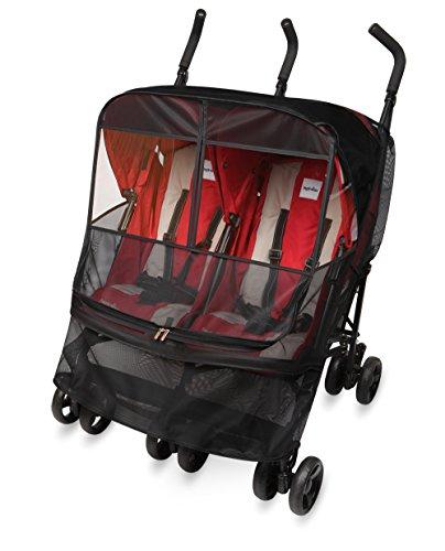 Manito-Mesh-Twin-Mostquito-Net-Moskitonetz-fr-Twin-Kinderwagen-und-Sportkinderwagen-Augenschutzweit-Windows-0