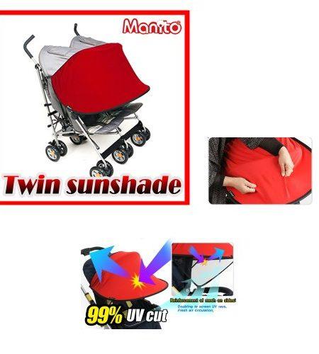 Manito-New-Twin-Sunshade-Sonnenschutz-fr-Twin-Kinderwagen-Sportkinderwagen-und-Autositz-Weitsonnenschutz-UV-Cut-Universal-und-einfache-Installation-0