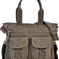 PHIL-SOPHIE-Cntmp-Damen-XL-Leder-Wickeltaschen-Diaper-Bags-Babytaschen-Buggy-Taschen-Leder-Taschen-Grau-Taupe-40x35x11cm-B-x-H-x-T-0
